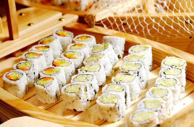 California rolls at Lotus Chinese & Japanese Cuisine.